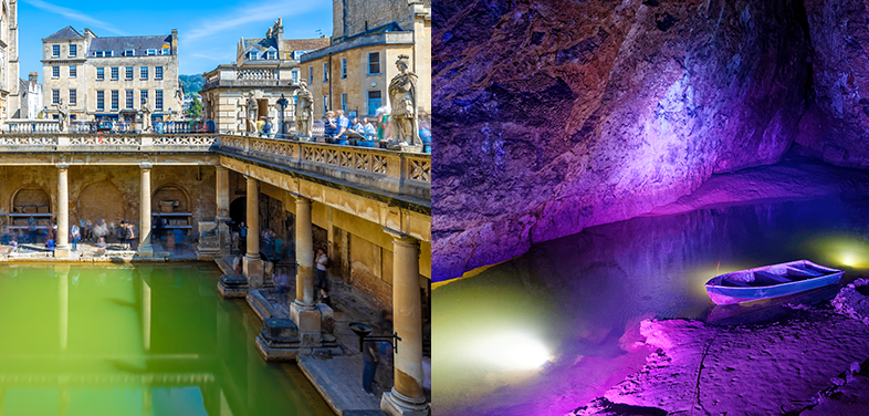 The Roman Baths and Wookey Hole Caves
